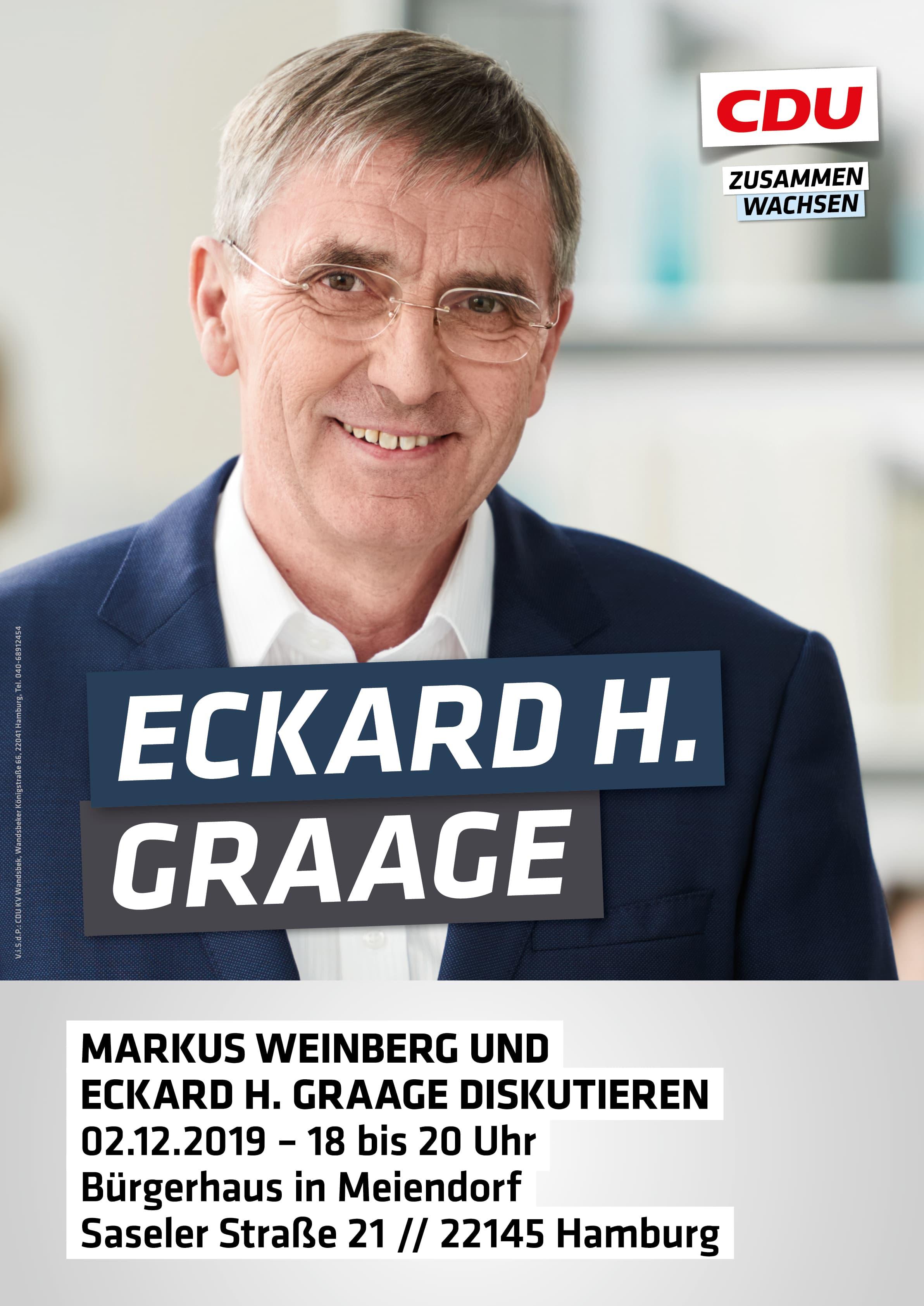 Eckard H. Graage und Marcus Weinberg diskutieren 2.12.2019